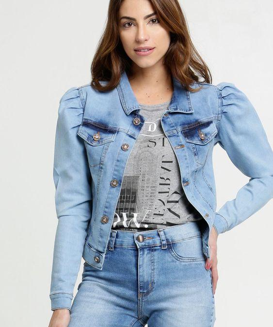 Jaqueta manga bufante com usar