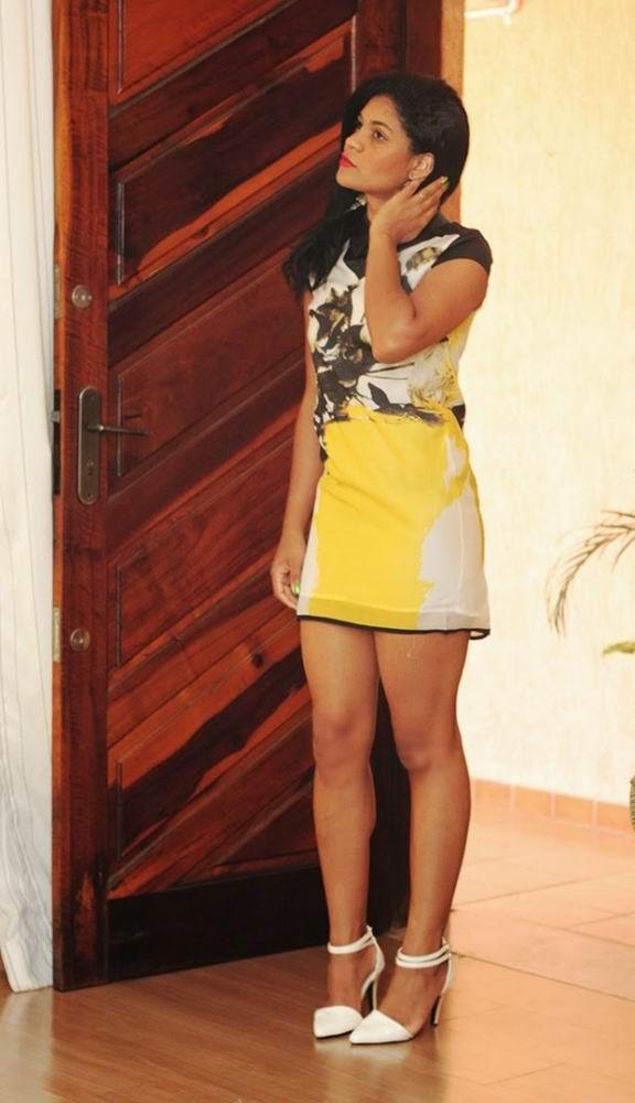 Look Vestido Gola de Seda