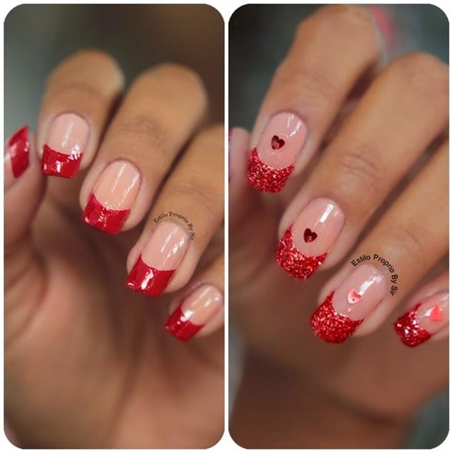 Famosos Unha para o Natal Glitter Vermelho - Estilo Próprio by Sir EL63