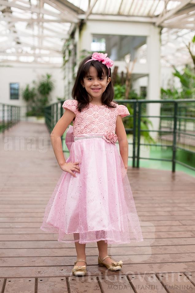 vestido princesa rosa luxo ana giovanna