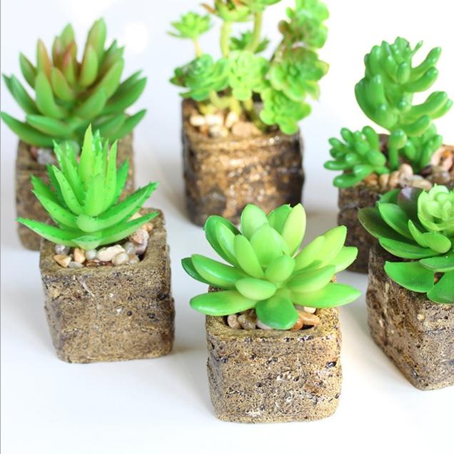 De-Arranjo-Floral-Artificial-suculenta-vaso-decora&ccedil