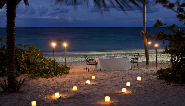 hoteis lua de mel_PalmaReal - jantar a luz de velas