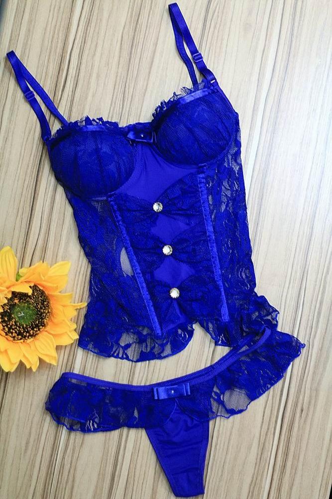 bac6451fe Um exemplo para sair da rotina é esse Corpete Madame Gabi azul bem lindo  que chama atenção e fica incrível no corpo.