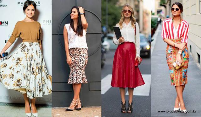 Moda feminina: conheça a história da saia midi.
