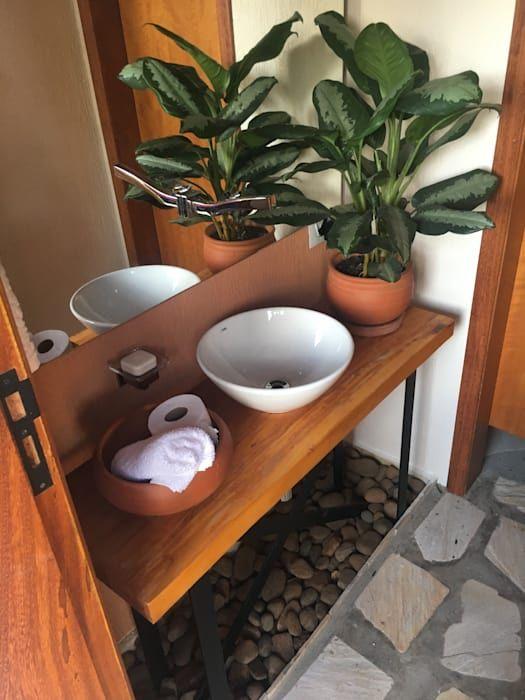 Meu banheiro é um jardim