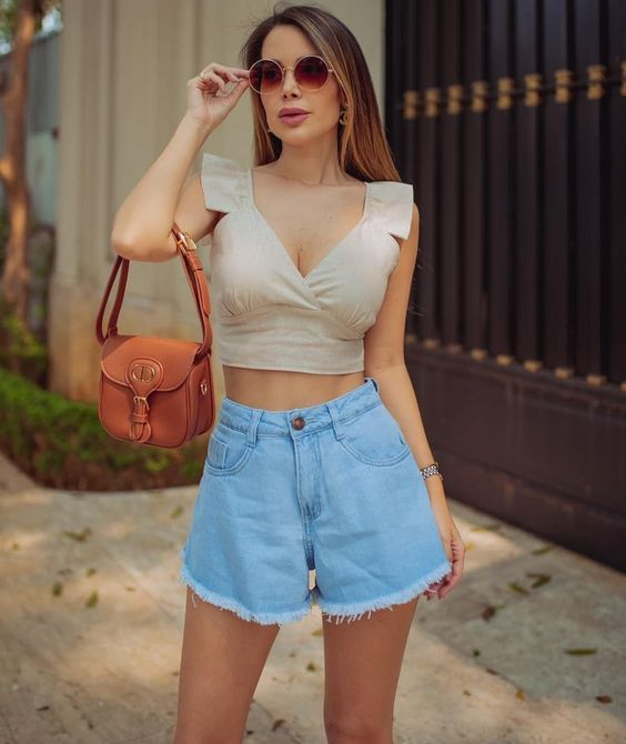 22 Maneira de usar Short Jeans Ruffled