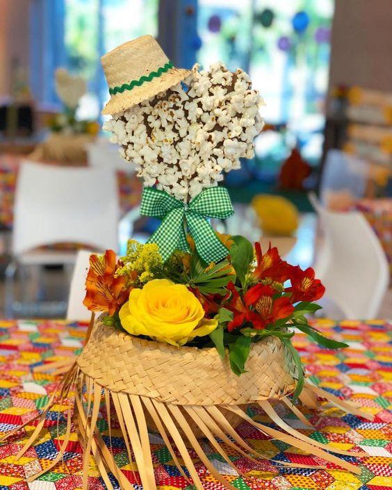 Decoração de Mesa com Flores